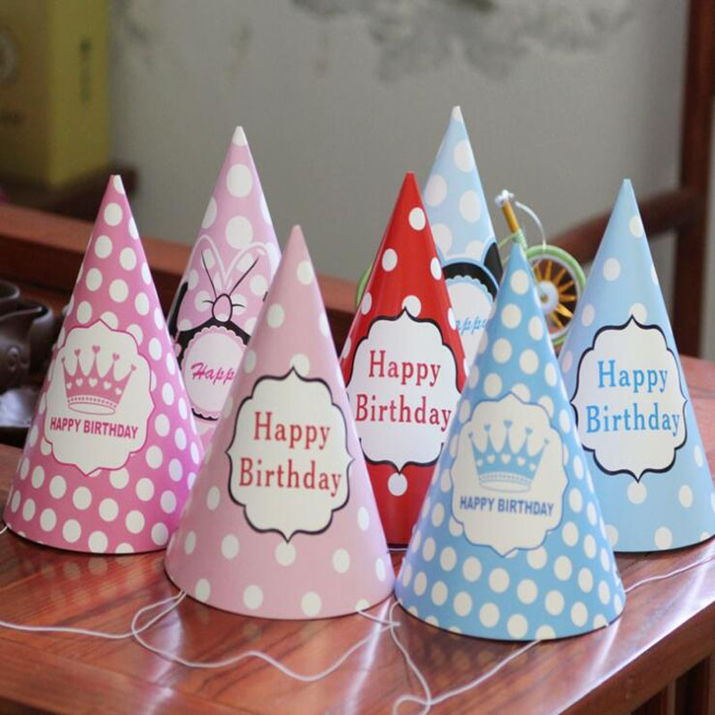 Consumer Electronics 6 Pcs/set Creative Cute Cartoon Diy Paper Celebration Party Hat Birthday Cap For Children Kids Birthday Party Decor Supplies Delaying Senility Drone Bags