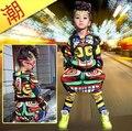 Nova moda Jamaica Totem maya crianças conjunto adulto Trajes do desgaste da dança dos ternos do esporte Hip Hop harem pants & camisola