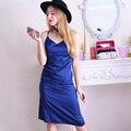 Vintage Nightdress Satin Nightgowns Comfy Slip Pretty Nighties Artificial Silk Sleepwear Ladies Dress