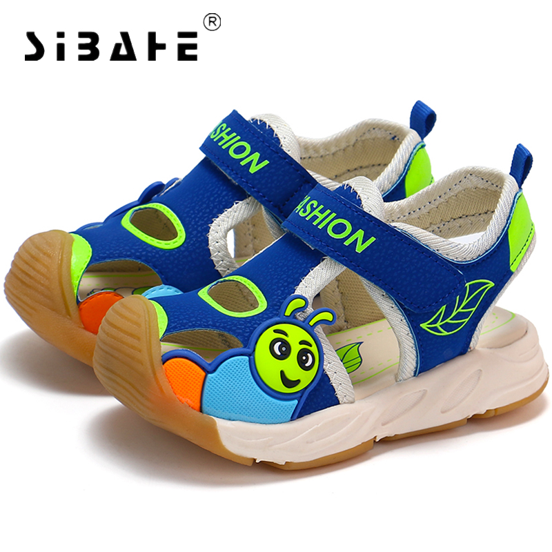 Sibahe Children Closed Toe Anti-skid Shoes Kids Flats Summer Beach Breathable Sandals Childrens Footwear Boy Girls Sandals