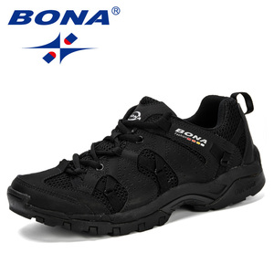 Image 3 - BONA ผู้ชายเดินป่ารองเท้าลูกไม้ Lace Up รองเท้ากีฬารองเท้าวิ่งกลางแจ้งเดินป่ารองเท้าผ้าใบ Non   Slip สวมใส่ Travel รองเท้าสบาย