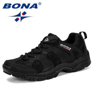 Image 3 - BONA Men Hiking Shoes Lace Up Men Sport Shoes Outdoor Jogging Trekking Sneakers Non Slip Wear Resistant Travel Shoes Comfortable