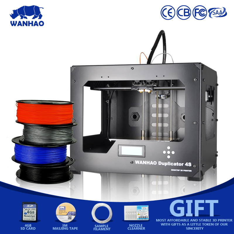2018 Cheapest High Precision Full Metal Frame With Heated Bed 3D Printer High Performance wanhao D4S Dual Extruder 3D Printer