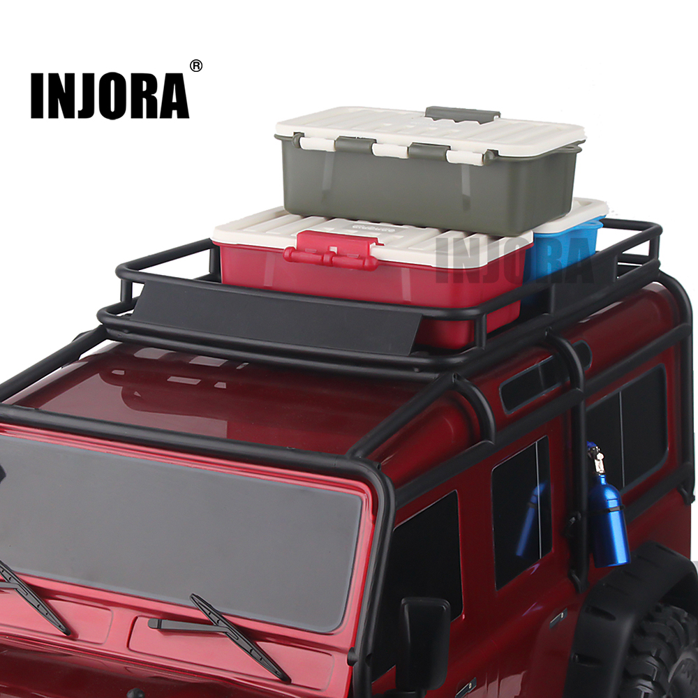 INJORA 1Pcs Plastic RC Car Storage Box Decoration Tool For Traxxas TRX4 Axial SCX10 90046 D90 1/10 RC Crawler Accessories