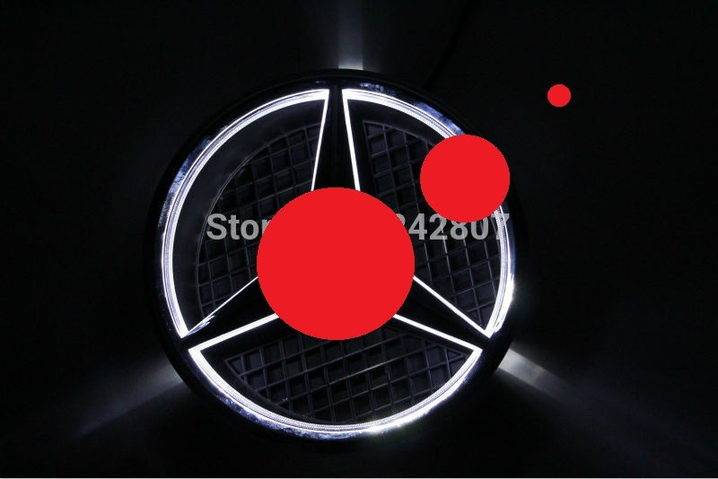 car front grille led logo badge emblem for Benz abs decorative led emblem logo light front grille for f ord r anger t7 2016 2017 car styling 4 colors grill lamp