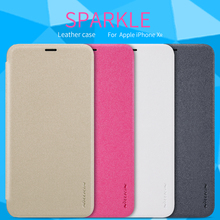 For iPhone XR case Nillkin Sparkle Leather Flip cover protec