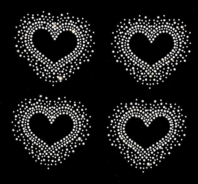 2884cd525b US $5.0 |4pc/lot Heart patches rhinestones motif designs iron on transfer  hot fix rhinestone transfer motifs transfer on design-in Rhinestones from  ...