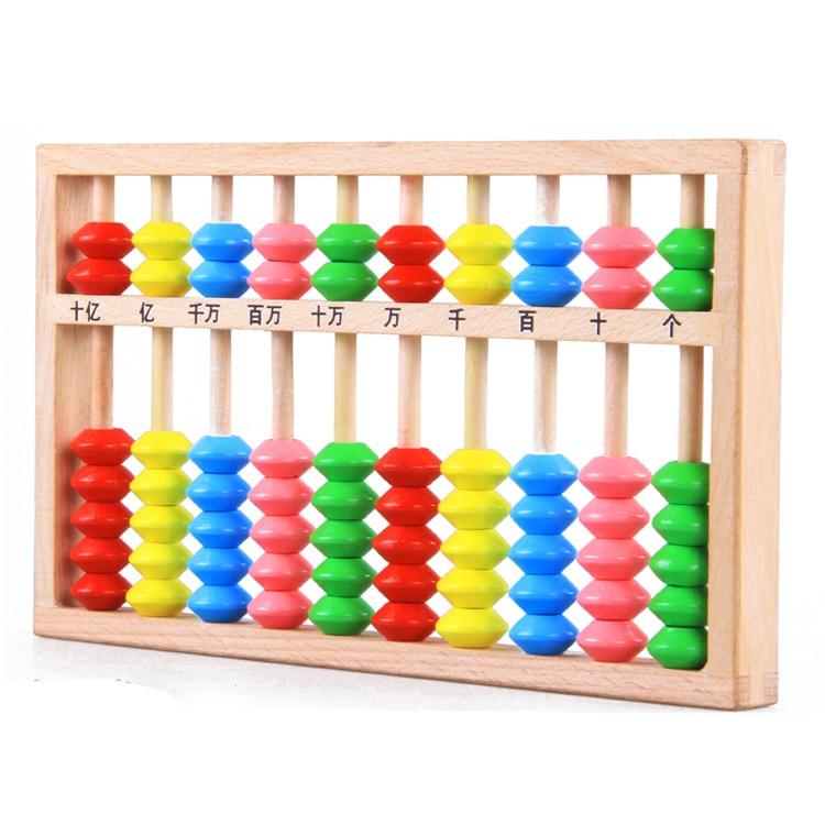 ФОТО Wood Arithmetic Soroban Mathematics Calculate Tool Colorful Beads Abacus - Tool For Mathematics Children Students Study Tool