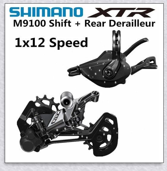Groupe de vélo SHIMANO DEORE XTR M9100 groupe de vélo vtt 1x12-Speed RD SL M9100 dérailleur arrière XTR Shift