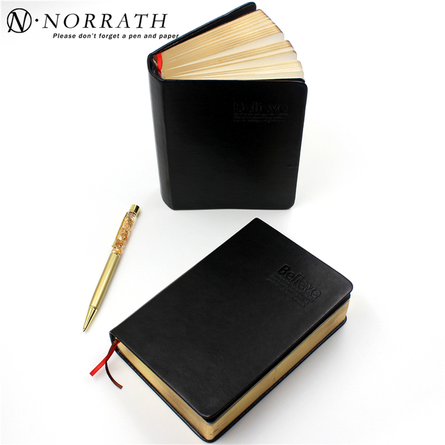 1facfbdc8258f Vintage Thick Paper Notebook Notepad Leather Bible Diary Book Journals Agenda  Planner School Office Stationery Supplies