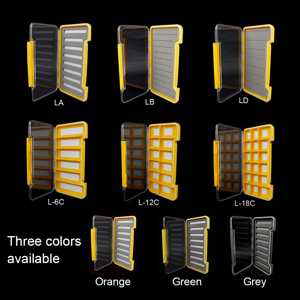 Aventik Waterproof Fly Fishing Boxes For Flies Foam A/B/D/6C Super Slim Storage Fishing Tackle Box For Keeping Flies And Hooks 6pcs 10 wifreo orange foam beatle fly floating fishing flies for trout fishing