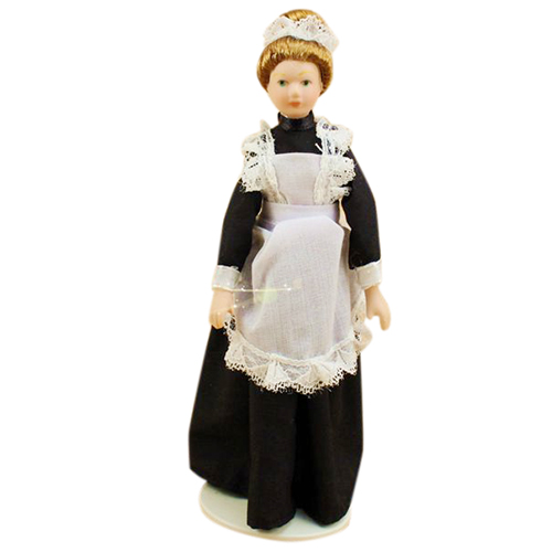 1:12 Dolls House Dollhouse Miniature Doll Ceramics Poseable Maid Accessories Toy