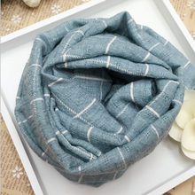 Baby Cute Scarf Cotton Grid O Ring Neck Scarves Spring Autumn Winter Warm Baby Clothes Overalls scarf for children(China)