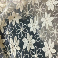 130cm 3 Yards High Density Cotton Embroidered Organza Lace Fabric Shirt Luxury Dress Fabric Textured Mesh