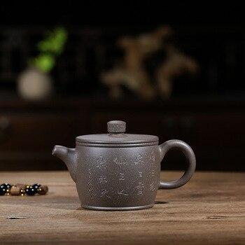 Pot Wholesale Original Mine Green Ash Section Mud Han Tile Pot Genuine Yixing Handmade Teapot Kungfu Teaware Ball Hole