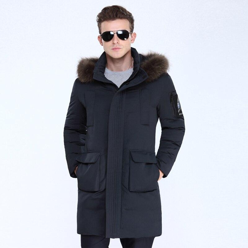 VSD 90% Blanc Duvet de Canard Hommes Vestes de Qualité Beau Chaud Longue Mode D'affaires D'hiver Vêtements Manteau Occasionnel Mâle Parkas VS807