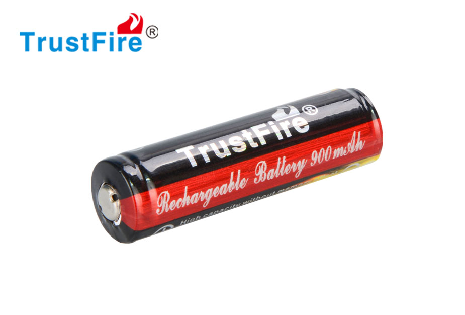2pcs TrustFire 3.7V <font><b>Li</b></font>-<font><b>ion</b></font> <font><b>14500</b></font> Rechargeable Battery 900mAh Real Capacity Lithium Battery with Protected PCB image