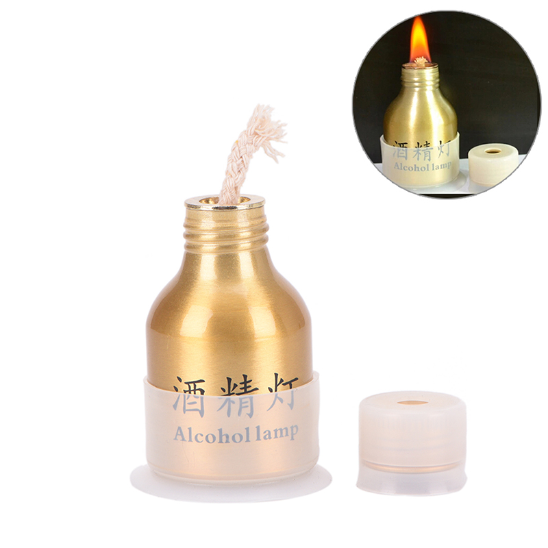 1Pc Metal Lamp Alcohol Liquid Stoves With Cover For Outdoor Survival Camping