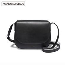 все цены на    2016 Mansur Gavriel women genuine leather crossbody bag ,lady real leather shoulder bag,leahter saddle bag.free shipping онлайн