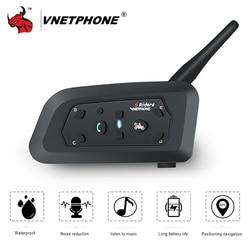 VNETPHONE Motorcycle Intercom Helmet Headset Motorcycle Rider Capacete Wireless Bluetooth Comunicador Moto Headset Interphone