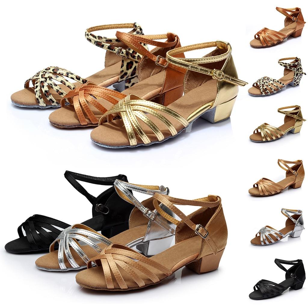 Sandals Cross Dance-Shoes Fashion Women Salsa Latin Rumba Buckle Prom-Ballroom Waltz