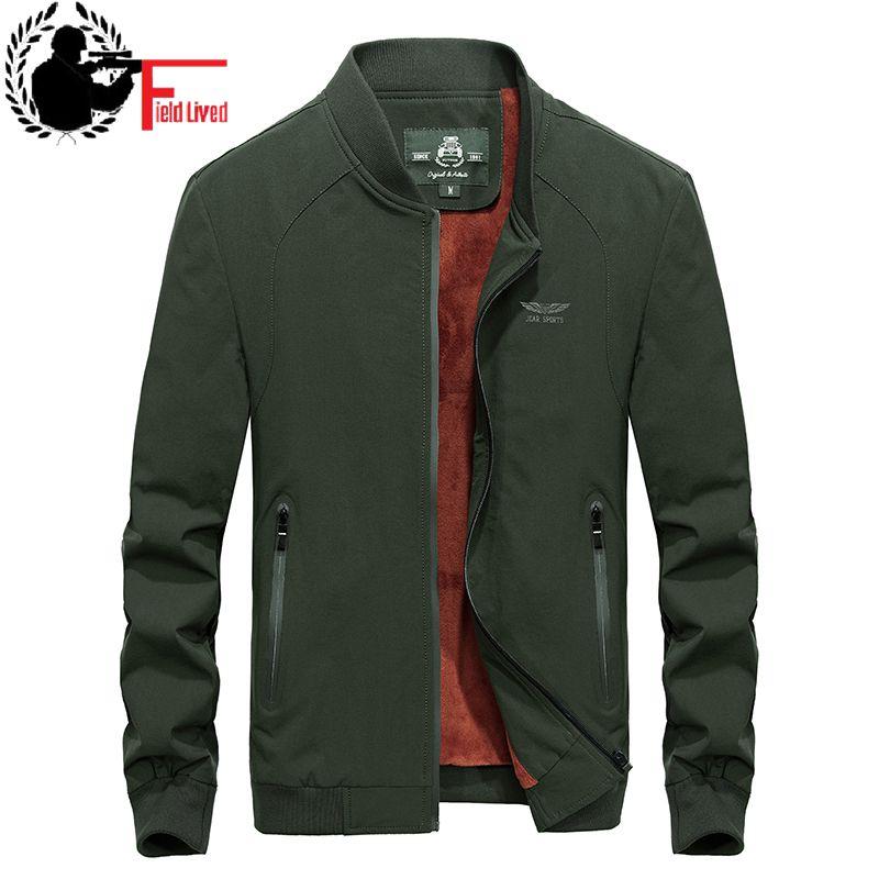 품질 재킷 양털 남성 코트 새로운 2019 가을 겨울 남성 캐주얼 아웃웨어 모피 따뜻한 느슨한 군사 오버 코트 육군 녹색-에서재킷부터 남성 의류 의  그룹 1