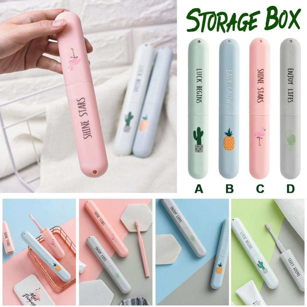 Portable Toothbrush Cover Holder Outdoor Travel Hiking Camping Toothrush Cap Case Protect Storage Cute Box 1pc