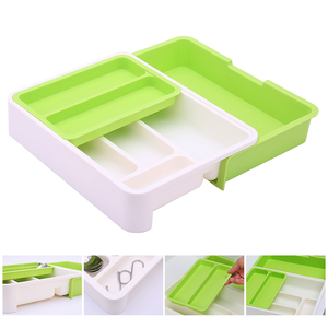 Kitchen drawer organizer plastic storage drawer Cutlery Tray for drawers divider Durable Utensil Multi Partition Safe Easy Clean