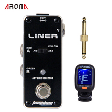 Promotion Group AROMA ALR-3 LINER ABY signal switch pedal Mini Analogue Effect True Bypass 1 pedal+1 connector+1 tuner