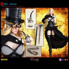 PLAY TOY 1/6 P010 Steam Girl Emily Female Soilers With Head Carving + Women Figure + Clothing Set 1/6 Action Figure Doll  Toys