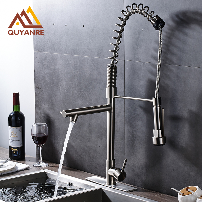 Single Hole Bathroom Kitchen Faucet with 10 Inch Decorative Cover Plate Hot and Cold Water Tap