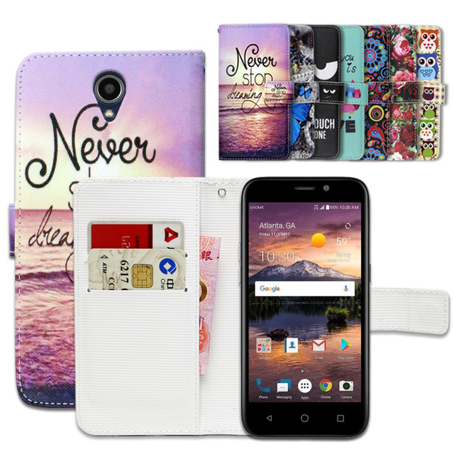 hot sale online 26578 0214f US $3.99 20% OFF|Wallet Case for ZTE Overture 3 100% Special Luxury PU  Leather Flip Cartoon Cover Book case -in Wallet Cases from Cellphones & ...