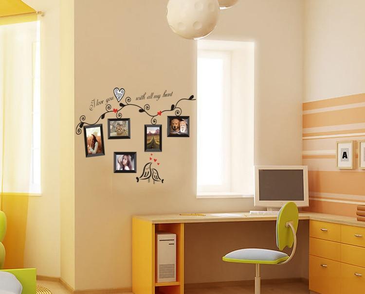 Aliexpress Com Buy Photo Frame Home Decorative Wall Stickers Window Door Glass Decor Art Mirror Removable