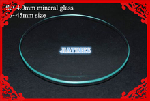Free Shipping 1pc Flat Mineral Watch Crystal/Glass four.0mm Thick Size from 25mm to 45mm for Watch Repair