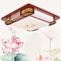 Китайский деревянный светодиодные лампы Потолочные Спальня лампы светодиодные лампы небольшой гостиной спальня лампа Книга номер в отеле