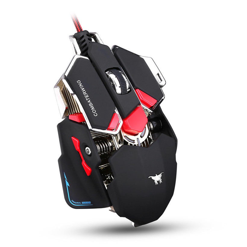USB Wired Optical 1000Hz Ergonomic Gaming Mouse Programmable 10 Buttons Computer PC Gamer Magic Mice With led Breathing Lights original zowie gear fk2 fk 1 fk1 gaming mouse usb wired 3200dpi optical ergonomic zowie mouse mice for cs fps gamer
