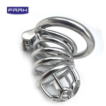 FRRK  chastity  cock cage Anti-loo Stainless Steel Men penis ring Metal Fetish Chastity Device for men adult bdsm device sex toy стоимость