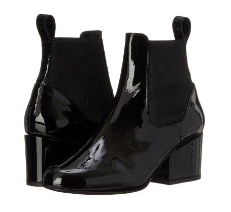 Spring and autumn woman black medium heel ankle boots Ladies bright surface chunky heel short boots Winter snow boots SIZE34-43 цена 2017