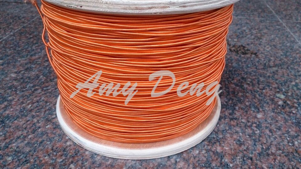 10 Meters/lot  0.04X1200 Shares Its High-frequency Sound Strands Orange Silk Envelope Litz Wire