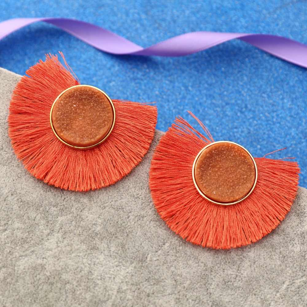 Màu cam Nóng Bán Hoa Mặt Trời Hoa Tai cho Cô Gái Resin Dễ Thương Nhỏ Daisy drop Earrings Phụ Nữ Đồ Trang Sức Thời Trang