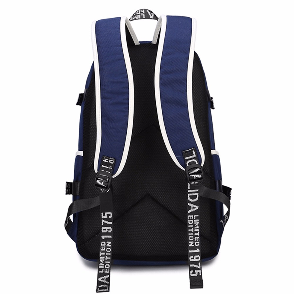 Wishot  Backpack Teenagers Men Women's Student School Bags Travel Shoulder Laptop Bags  Multifunction Usb Charging #5
