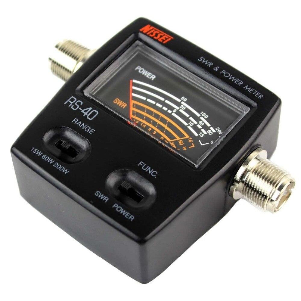 UV Dual Band Standing Wave Meter Power Meter SWR Meter 0 20W MJ MJ Connector RS40