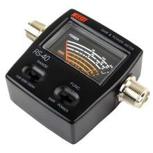UV Dual Band Standing-Wave Meter Power Meter SWR Meter 0-20W MJ-MJ Connector, RS40 PS-40 Power SWR Meter,replacing redot 1050A