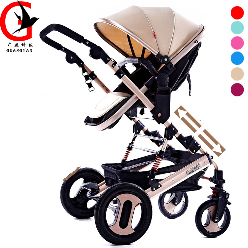 Baby Stroller High landscape Lift up and down Can lie and sleep fold baby trolley children's four-wheeled baby carriages kds twin baby stroller high landscape two baby trolley hand double fold front and rear can lie luxury umbrella carts