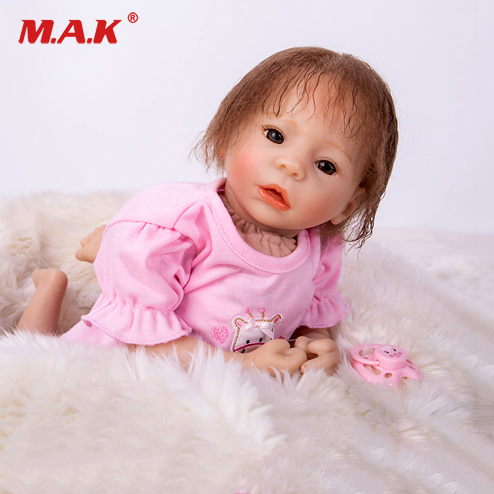 Brown eyes BeBe Reborn Doll PP Cotton Body 48cm Silicone Reborn Baby Dolls Lifelike Newborn Baby Gift Juguetes Babies Toys reikirc cute bebe reborn doll cotton body silicone reborn baby dolls lifelike newborn baby gift babies toys