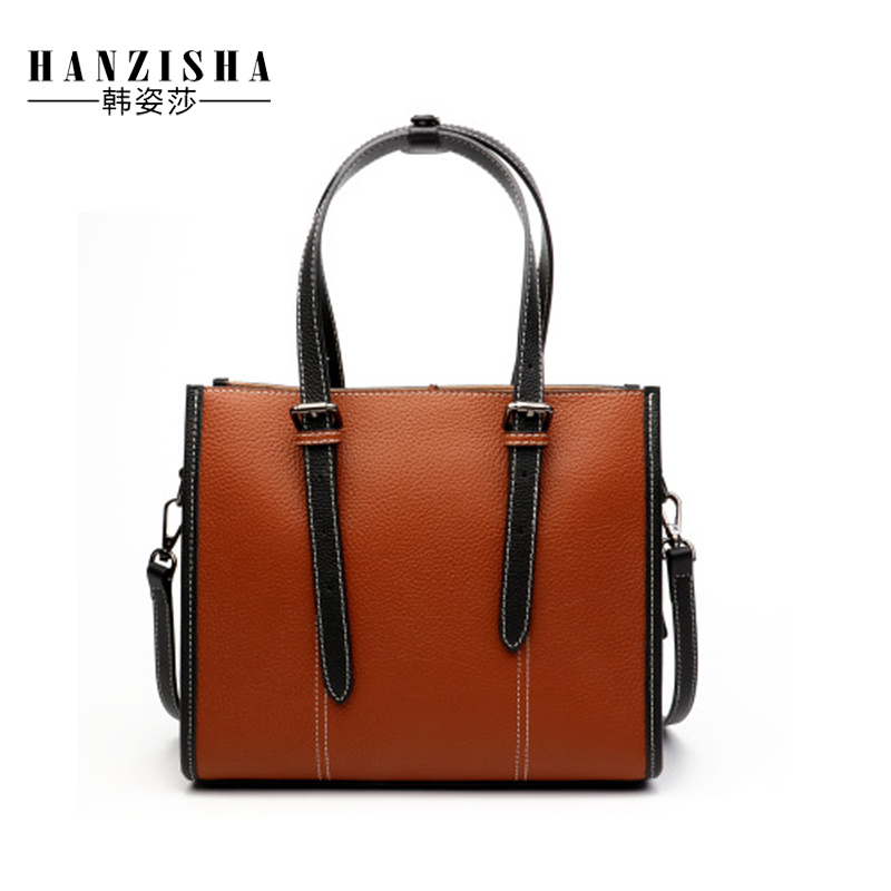 2018 New Fashion Genuine Leather Bag For Women Litchi Pattern Women Shoulder Bag Luxury Design Natural Leather Women Tote Bag цена
