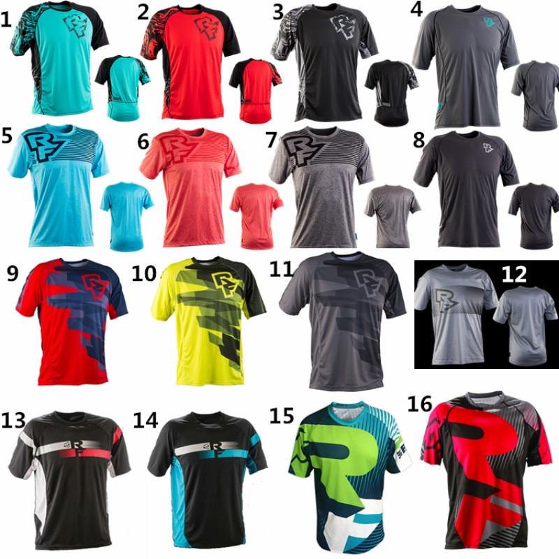2018 nuevos MENS RACEFACE AM DH secado rápido transpirable ciclismo Jersey de manga corta Camiseta de los hombres del verano