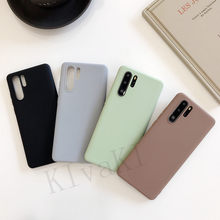 Candy Color Soft Silicone Couples Cases For Huawei P20 P30 Pro P10 lite P9 Case On Honor 8 9 10 lite Simple Fashion Phone Case(China)