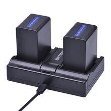 2 個 4500mAh NP FH100 NP FH100 バッテリー + USB デュアル充電器ソニー DCR SX40 SX40R SX41 HDR CX105 FH90 FH70 FH60 FH40 FH30 FP50