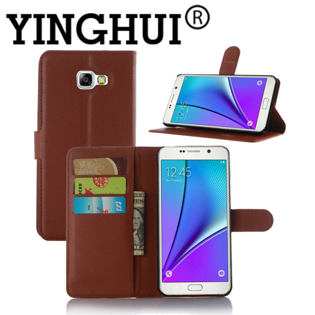 307076c3cfef00 Luxury A5 2016 Book Style Litchi Leather Wallet Case Flip Cover For Samsung  A5 2016 A510F